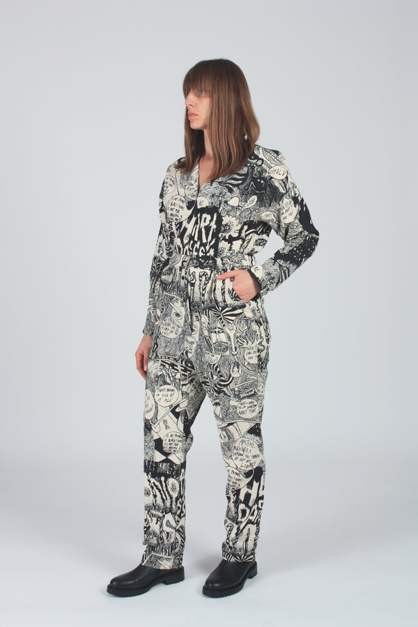 Glitch Jumpsuit Black Chatter