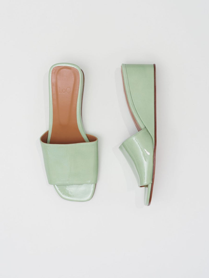 Sol Wedge  Sandal Menta