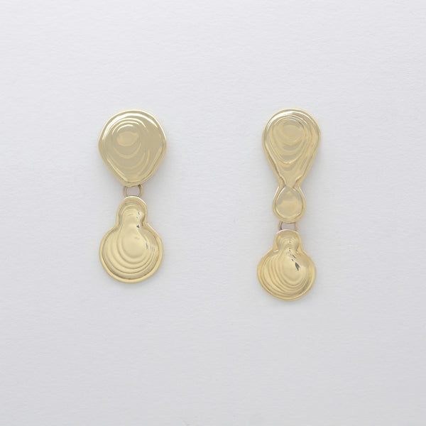 Double Drop Earrings Brass