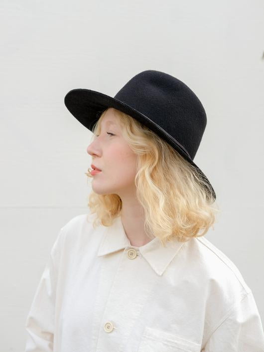 Wakefield Hat Wool Felt Black