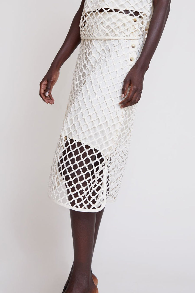 Carla Macrame Skirt in Natural