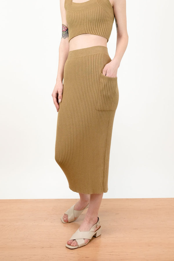 Rae Rib Skirt Bronze