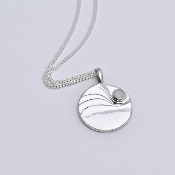 Dawn Pendant Sterling Silver with Moonstone
