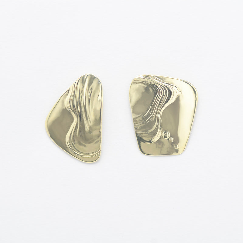 Splatter Earrings Brass