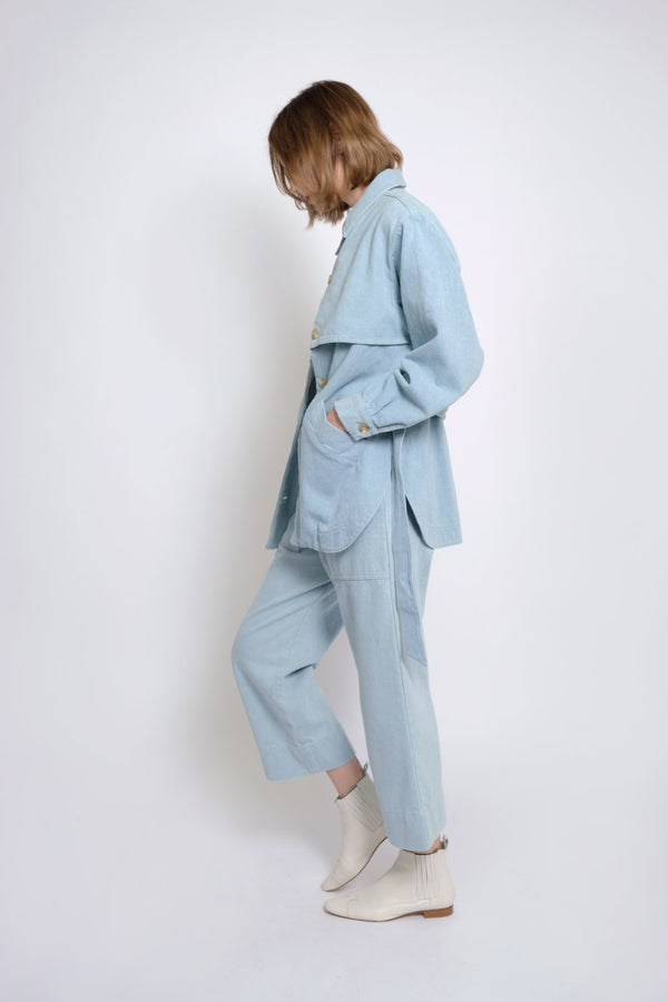 Trench Jacket Sky Blue
