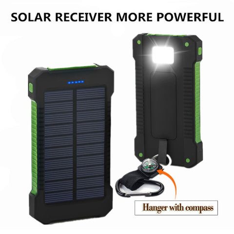 Solar Power Bank Portable Charger Dual USB for Mobile Phone