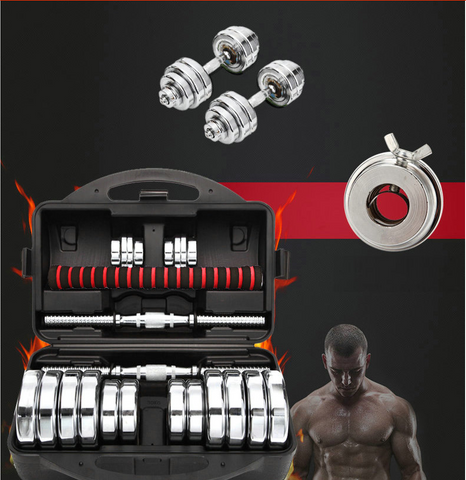 Image of 15 kg Electroplated dumbbell for home excerise