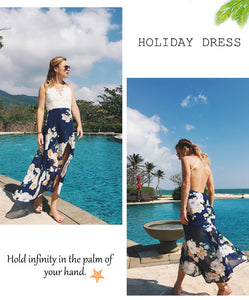 Sling V-neck holiday beach long skirt