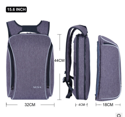 Image of men's business backpack, multi pockets, large space smart anti-theft Laptop Backpack