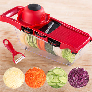 Multifunctional potato shredding device for household kitchen slicer cut wire brush radish slicer grater artifact