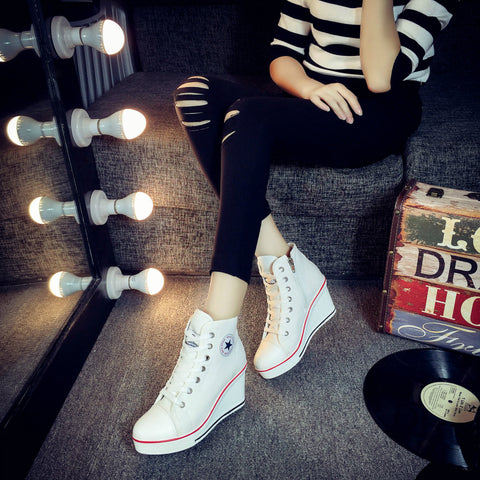New style heel canvas shoes
