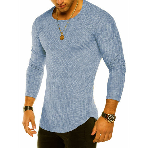 4 Colors 2018 Spring Men Long Sleeve T Shirt