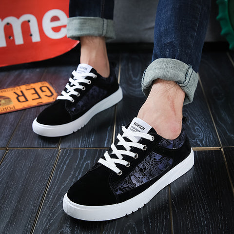2017 Mens Canvas shoes autumn ho road leisure sports shoes, injection shoes men folk style students