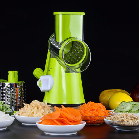 Vegetable Cutter Round Mandoline Slicer Potato Julienne Carrot Grater Cheese