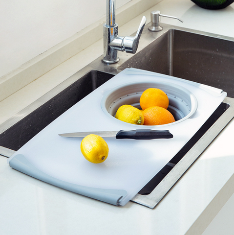 Image of Household drain multi-function sink cutting board