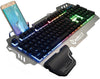 Super cool metal keyboard wire mixed light mechanical game keyboard