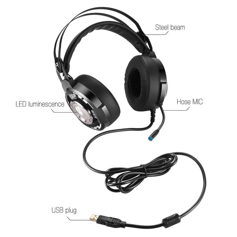 Image of BUTFULAKE SL-200 gaming headset headset computer gaming headset USB7.1 desktop with bass
