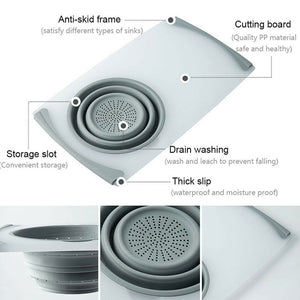 Household drain multi-function sink cutting board