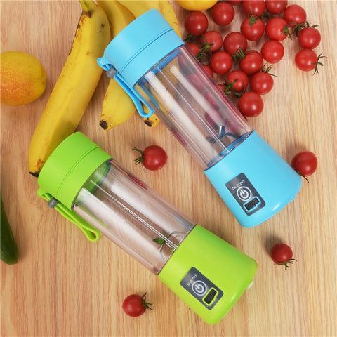 380ML 4/6 Blades Handhels Juicer Bottle Portable Mini USB Electric Fruit Citrus Lemon Juicer Blender Squeezer Reamer Machine