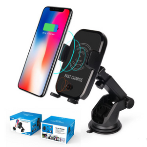 Fast Wireless Car Charger with Automatic Infrared Sensor Car Mount