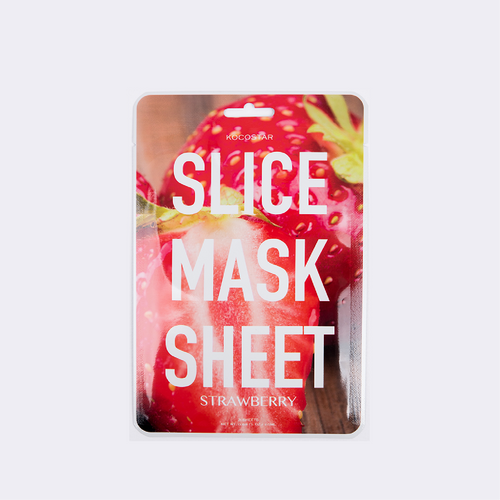 slice mask strawberry