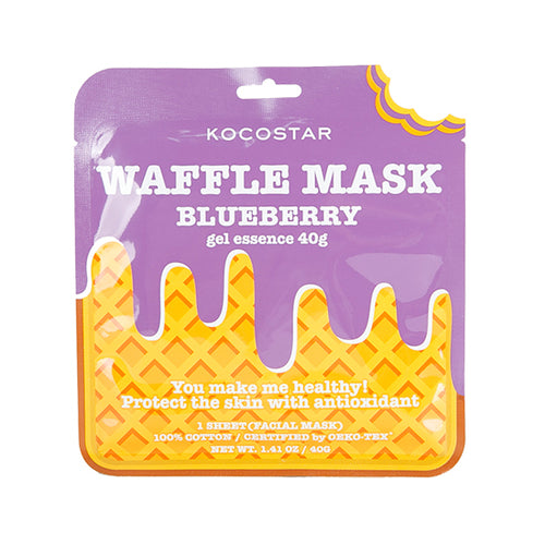 Waffle Mask Blue Berry - 40g gel essence + Breathable Weaved Sheet