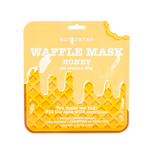 Waffle Mask Honey - 40g gel essence + Breathable Weaved Sheet
