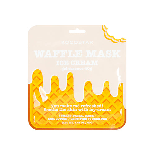 Waffle Mask Ice Cream - 40g gel essence + Breathable Weaved Sheet