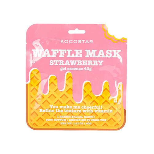 Waffle Mask Strawberry - 40g gel essence + Breathable Weaved Sheet