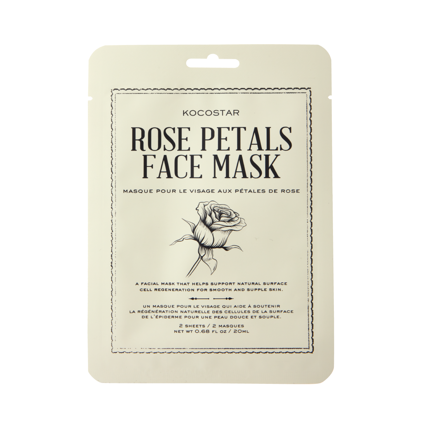 therapy sliced mask rose