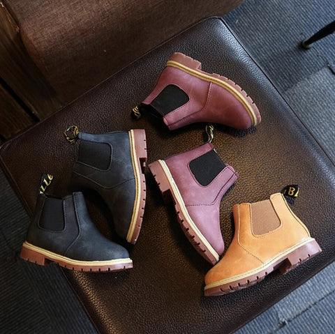 Boy's Winter Leather Boot
