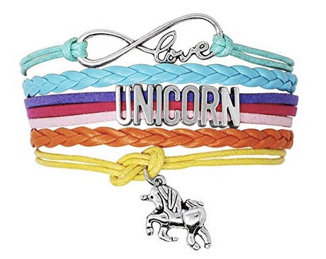 Infinity Love Unicorn Hand-knitted Multilayered Leather Strap Braclet