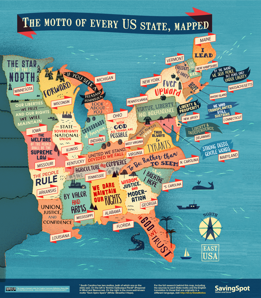Every US State's Motto In One Handy Map – The Foodnited States on mo state map, shawnee state forest topo map, illinois state map, shawnee state park map,