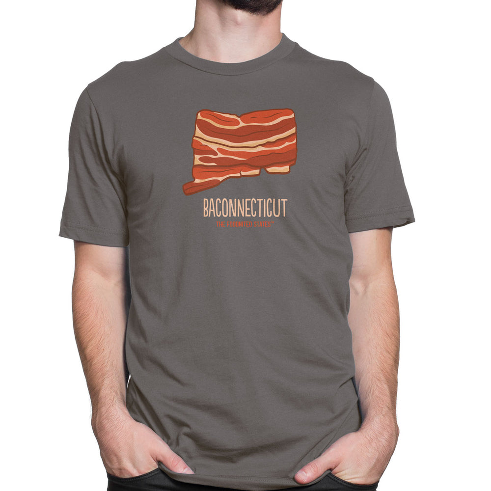 Baconnecticut T-shirt, Men's/Unisex - The Foodnited States