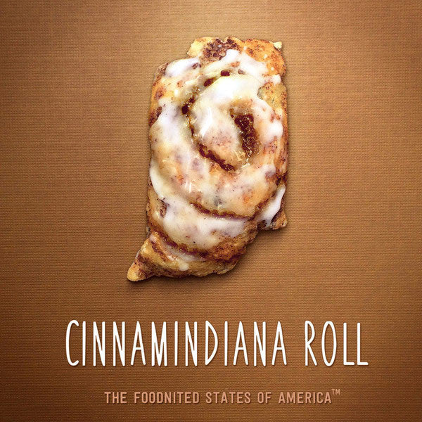 Cinnamindiana Roll Foodnited States Poster - The Foodnited States