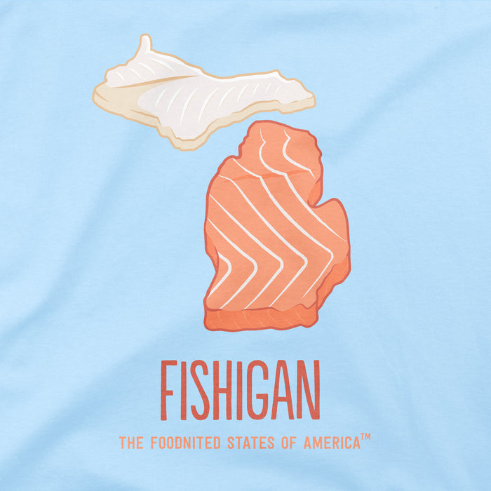 Fishigan T-shirt, Men's/Unisex