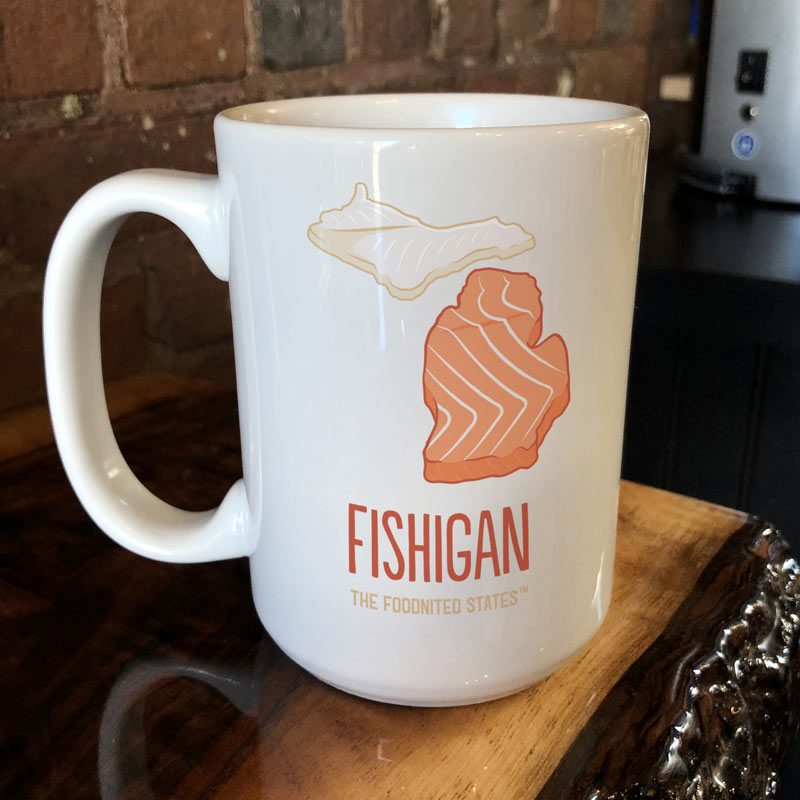 Fishigan Coffee Mug - The Foodnited States