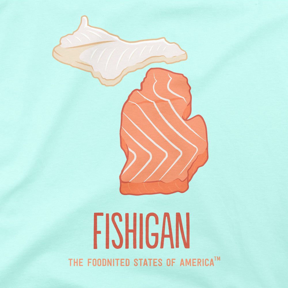 Fishigan T-shirt, Women's - The Foodnited States