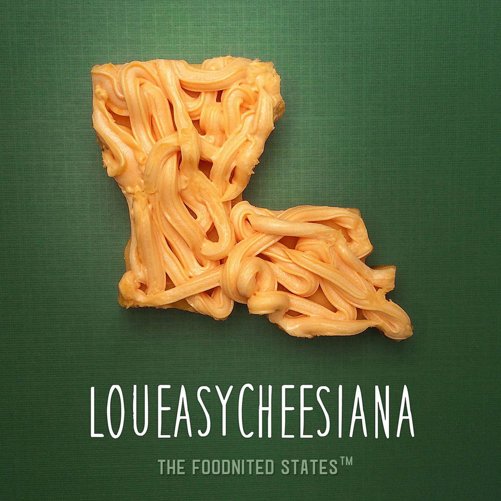 Loueasycheesiana Foodnited States Poster - The Foodnited States