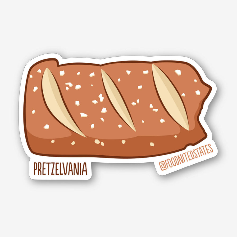 Pretzelvania Sticker - The Foodnited States