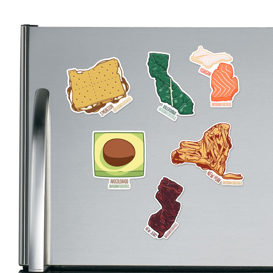 Kaleifornia Fridge Magnet - The Foodnited States