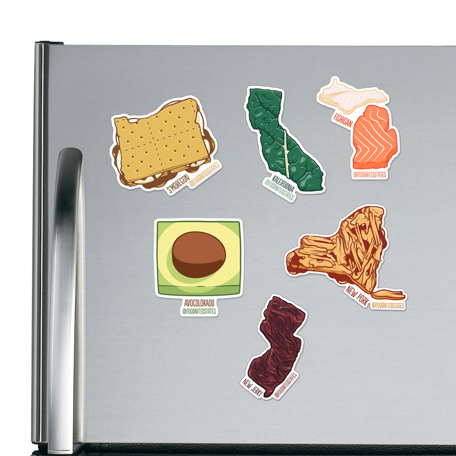Foodnited States Fridge Magnet Four-Pack - The Foodnited States