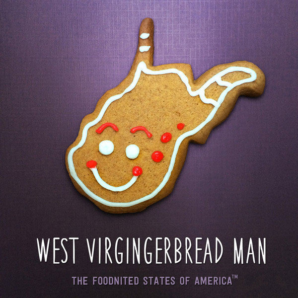 West Virgingerbread Man Foodnited States Poster