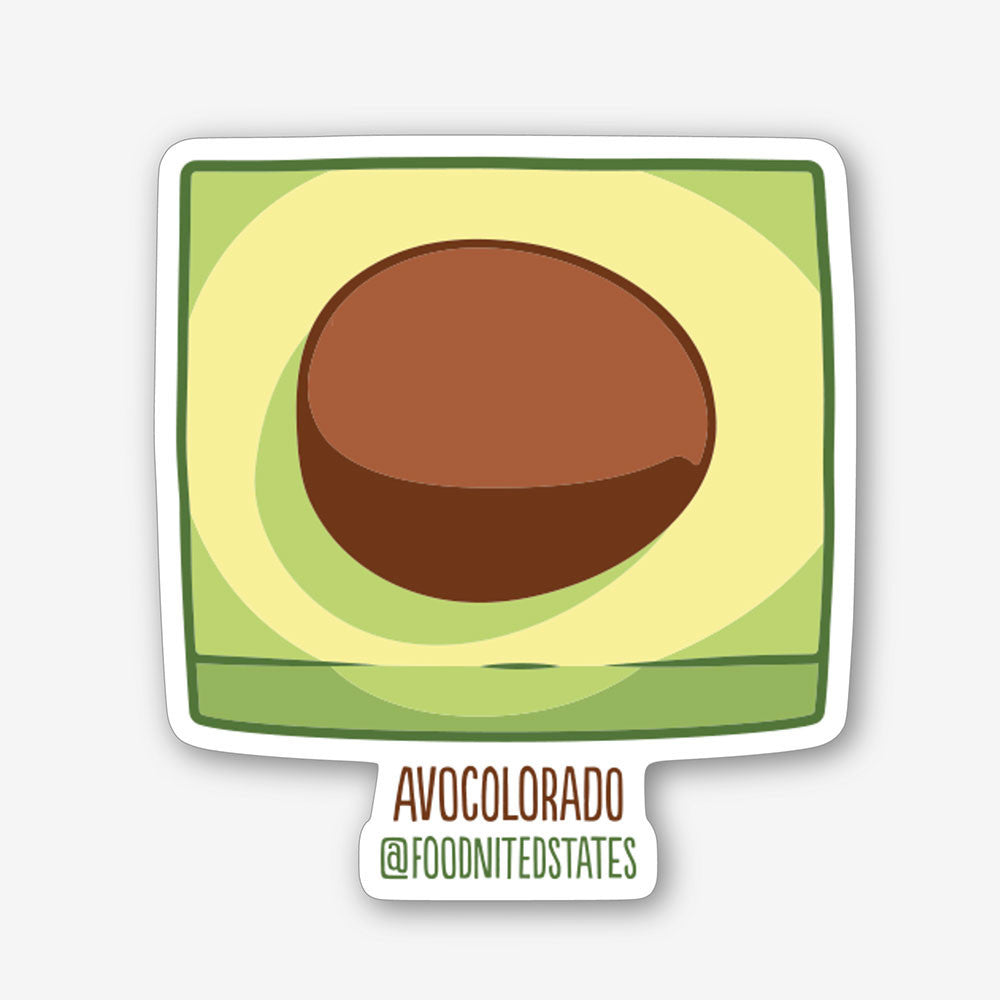 Avocolorado Sticker - The Foodnited States