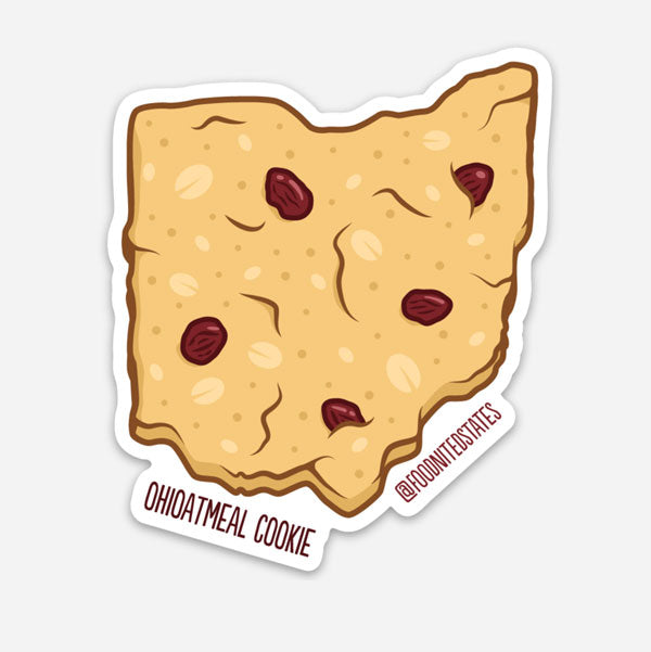 Ohioatmeal Cookie Sticker - The Foodnited States
