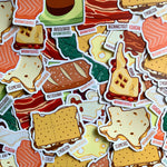 Foodnited States Sticker Six-Pack