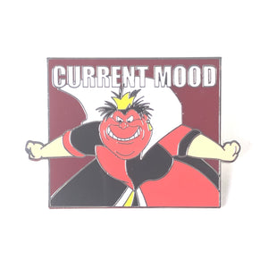 Alice In Wonderland Queen Of Hearts Current Mood Red With Anger Disney Pin