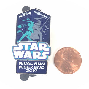 Star Wars Rival Run Weekend 2019 Logo Luke Skywalker Darth Vader Disney Pin