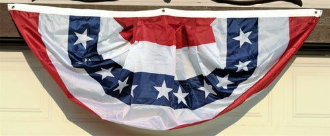 Image of 3' x 6' American Flag Outdoor Bunting