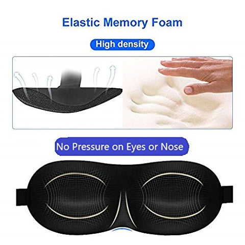 PierCoh Comfort Memory Foam Sleep Mask (Two-Pack)